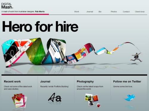 10 Creative Website Designs for Portfolio | MemoryPointer.com
