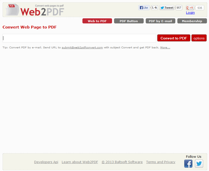 free web to pdf converter