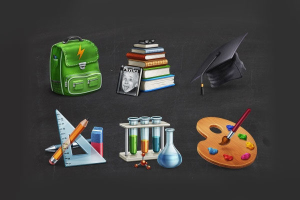 17-academic-icon-set