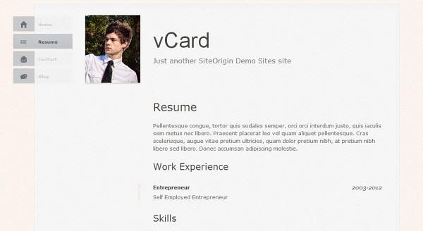 vcard-wordpress-theme