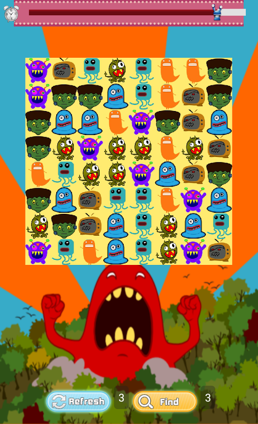 android monsters card game for kids