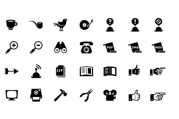 retro-icon-set