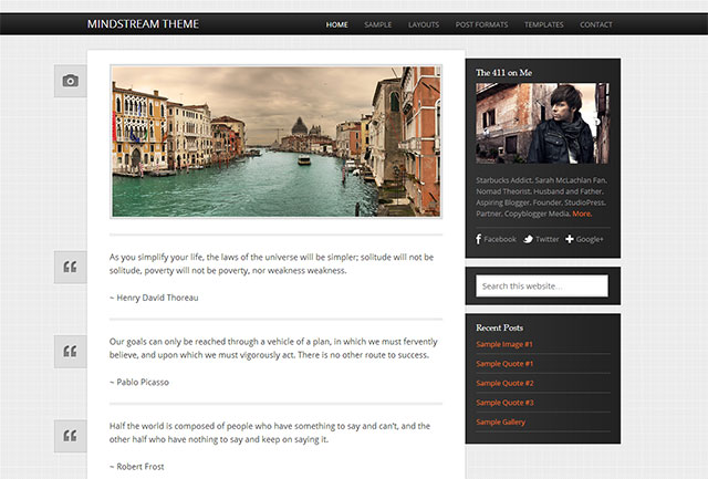 mindstream wordpress tumblr theme
