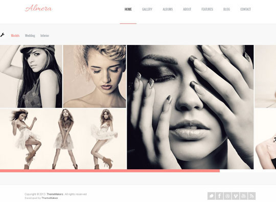 almera portfolio wordpress theme