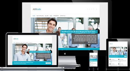 attitude wordpress free business theme