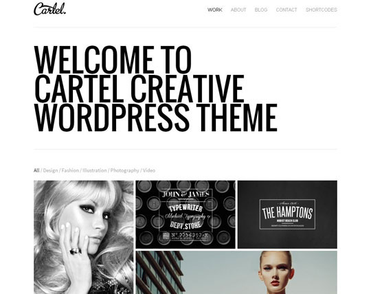 cartel portfolio wordpress theme
