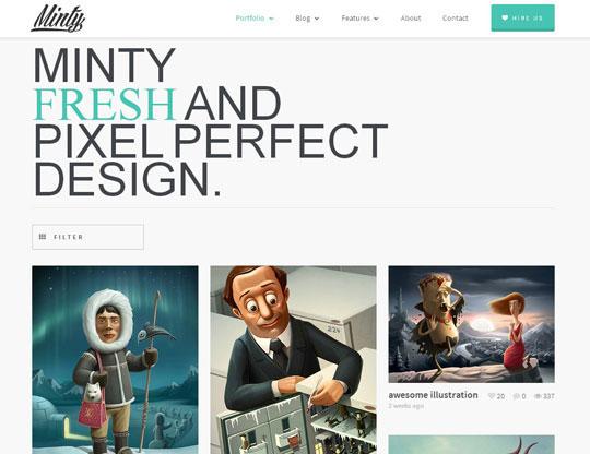minty wordpress portfolio theme