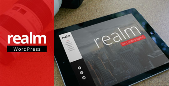 realm minimalist wordpress theme