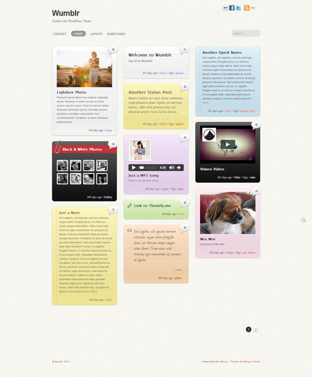 wumblr tumblr like wordpress theme