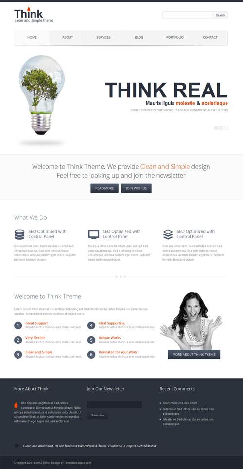 think wordpress theme