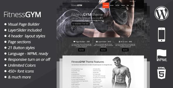 fitnessgym wordpress theme
