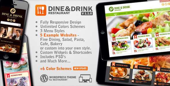 dine & drink wordpress theme