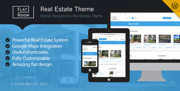 flat room wordpress theme