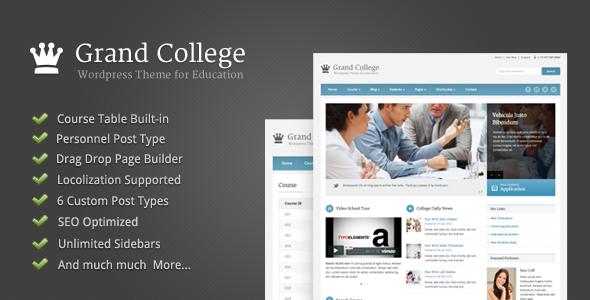 grand college wordpress theme