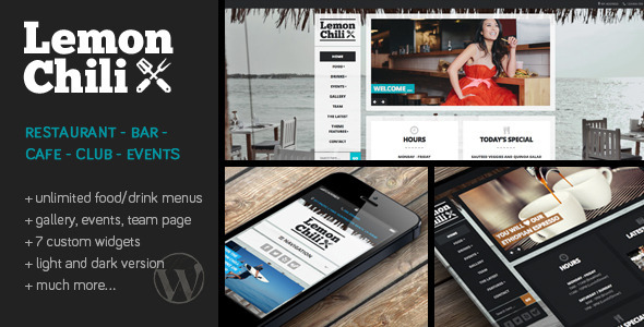 lemon chilli wordpress theme