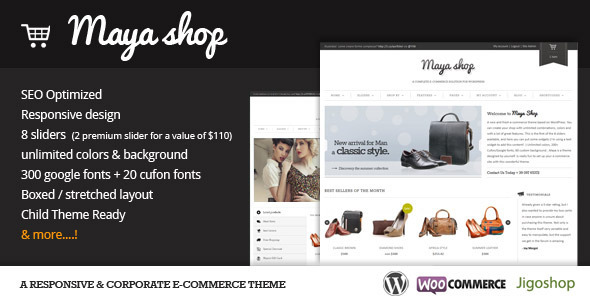 wordpress ecommerce themes,mayashop wordpress ecommerce theme