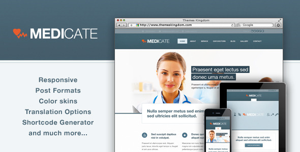 medicate wordpress theme