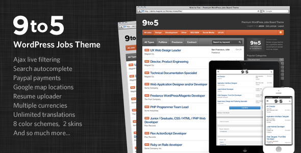 job board themes wordpress