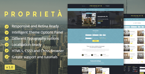 proprieta wordpress theme