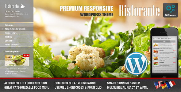 ristorante wordpress theme