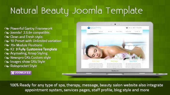 natural beauty joomla template
