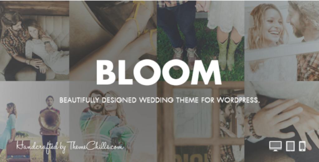 bloom wedding theme for wordpress