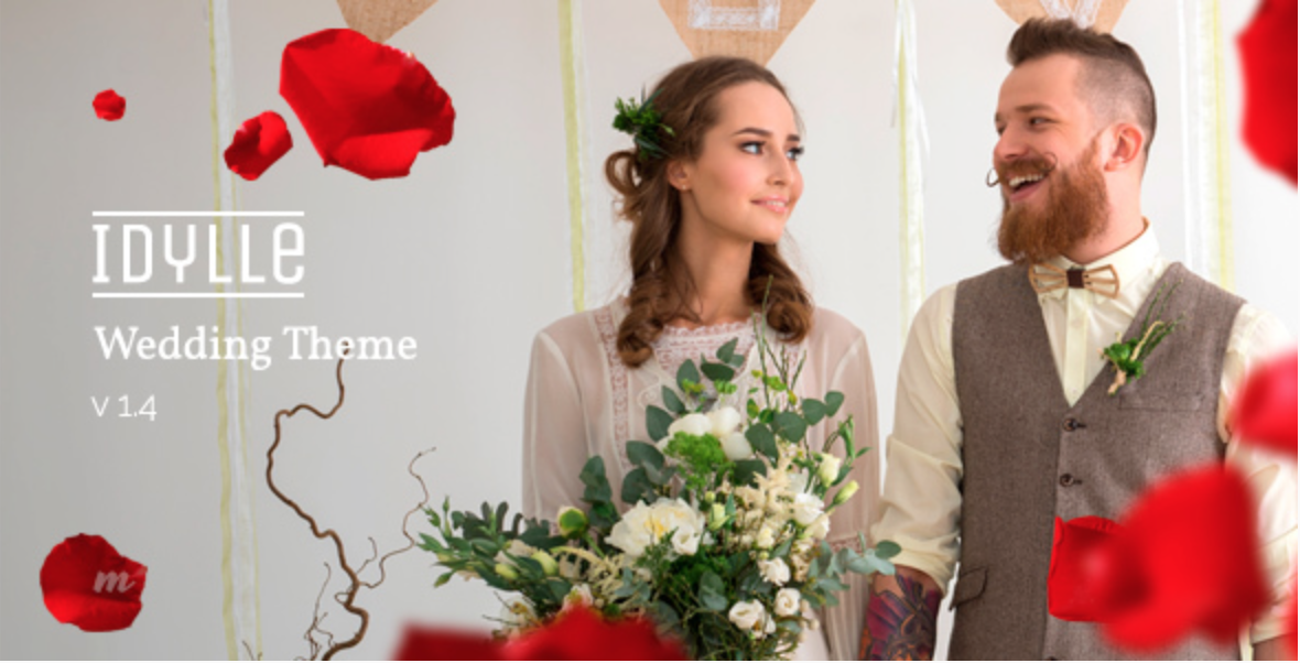 idylle responsive wedding wordpress theme