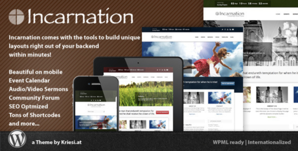 incarnation wordpress church and community theme
