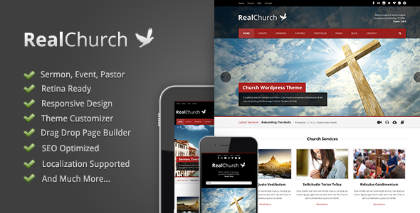 real church retina wordpress theme