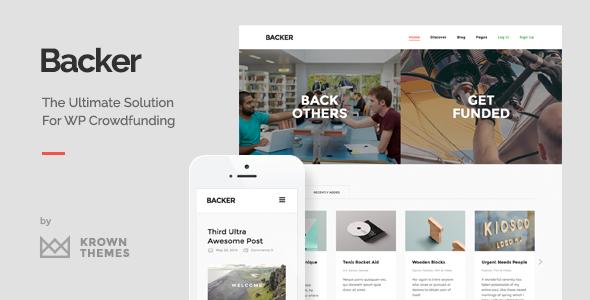 backer modern crowdfunding theme