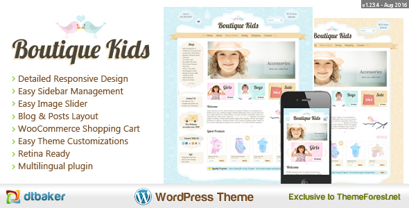 boutique kids wordpress template