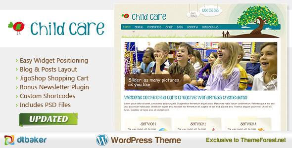 child care creative theme wordpress