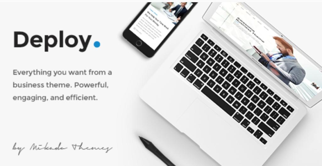deploy clean modern wordpress theme
