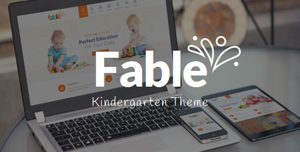 fable kindergarten wordpress theme