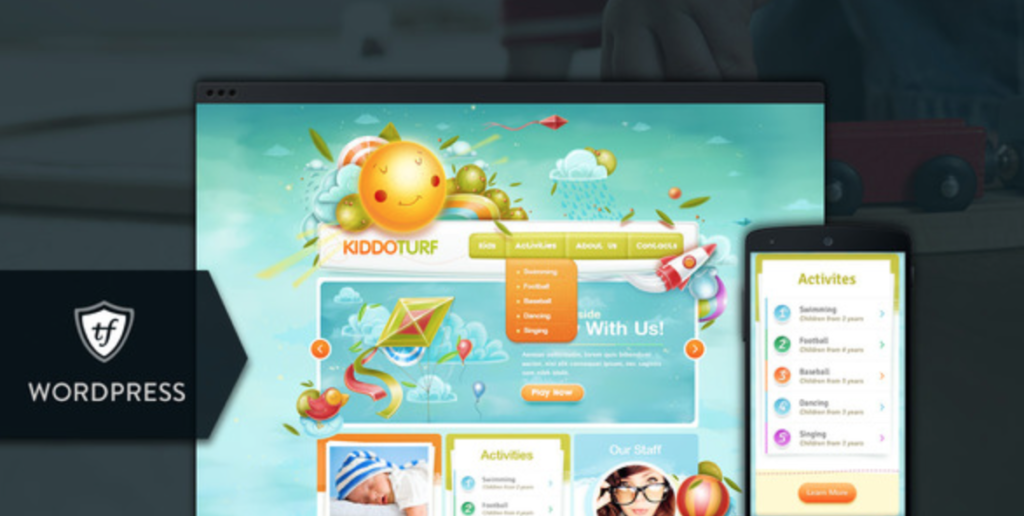 kiddoturf children wp theme