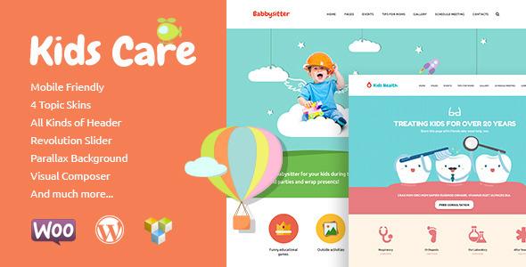 kids care children wordpress theme