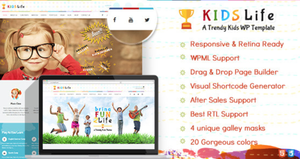 kids life childrens wordpress themes