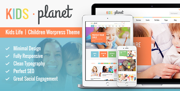 kids planet multipurpose wp theme