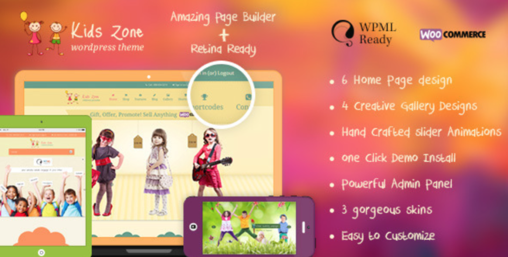 kids zone wordpress theme