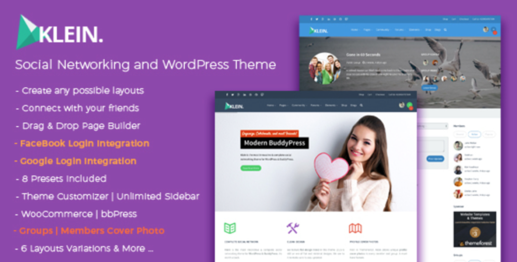 klein community wordpress template