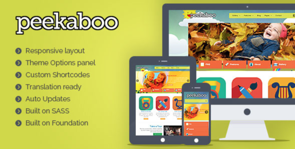 peekaboo wordpress children theme