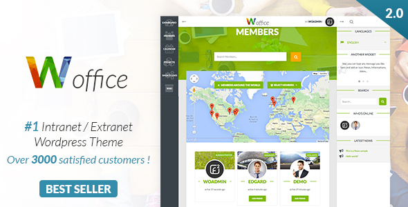 woffice intranet and community wordpress theme