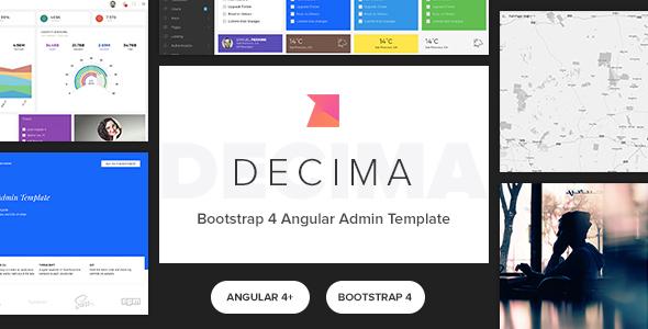 decima bootstrap angular2 admin template