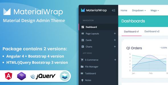 material wrap admin theme angular