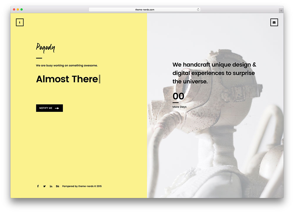 pogody website template angularjs