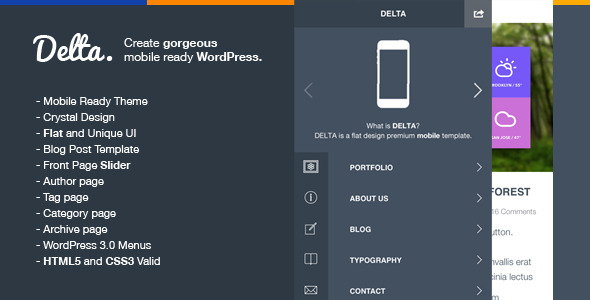 delta flat wordpress template