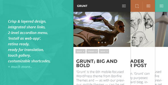 grunt mobile theme for wordpress