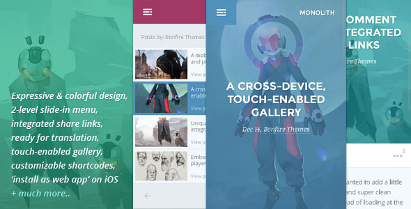 monolith mobile wp theme