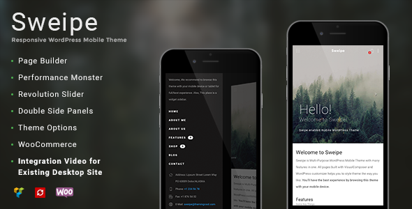 sweipe responsive mobile theme