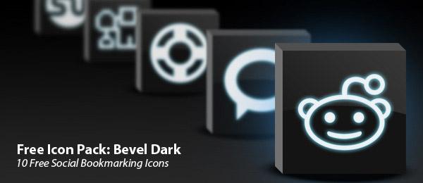 bevel-dark-icon-set